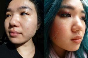 Zombie CC Cream on Face